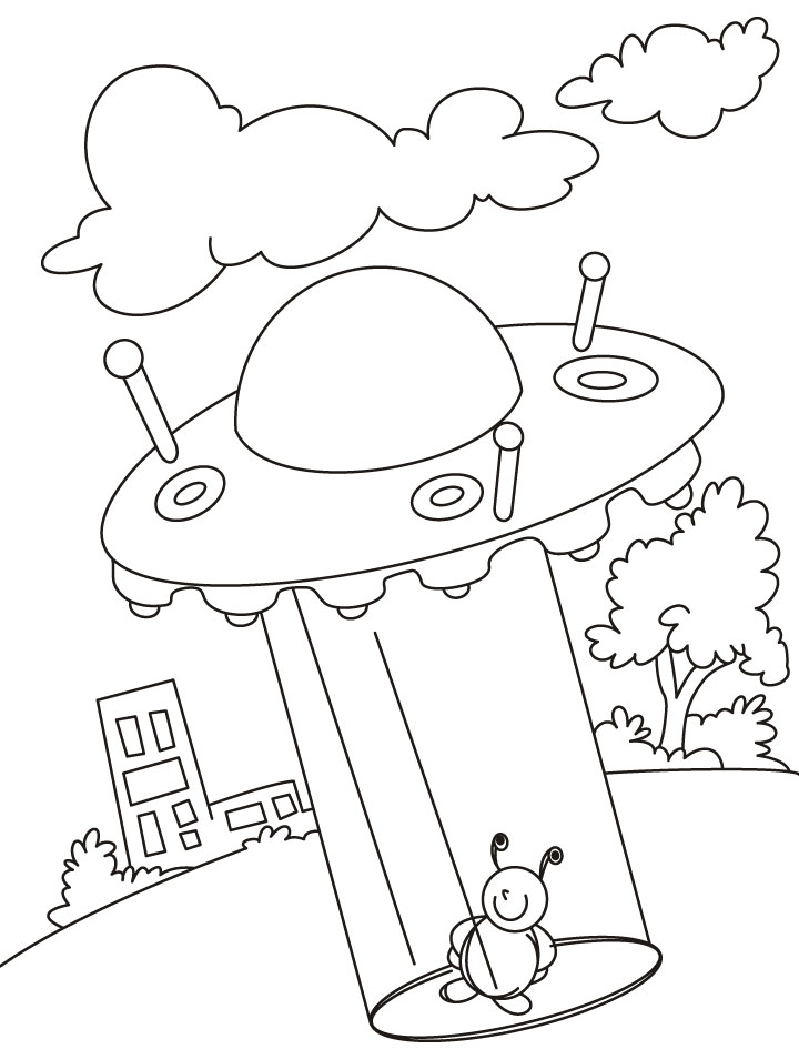 No Place In This Universe Is Out Of Ufo Coloring Pages