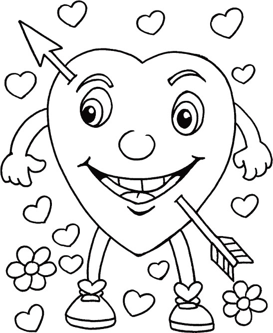 Valentine math coloring picture