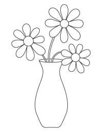 Flower vase coloring page | Download Free Flower vase ...