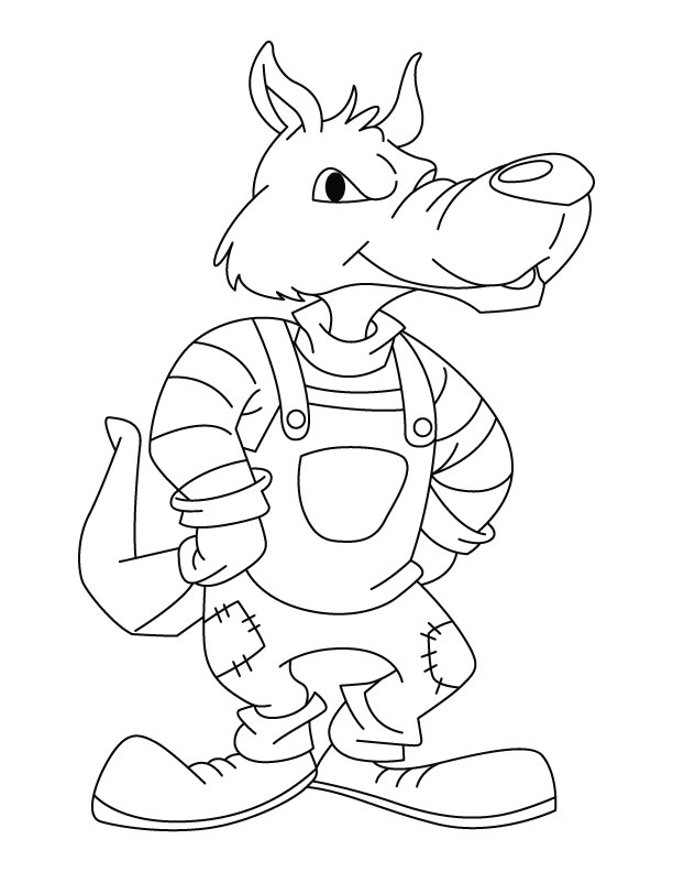 Big Bad Wolf Coloring Pages Coloring Pages