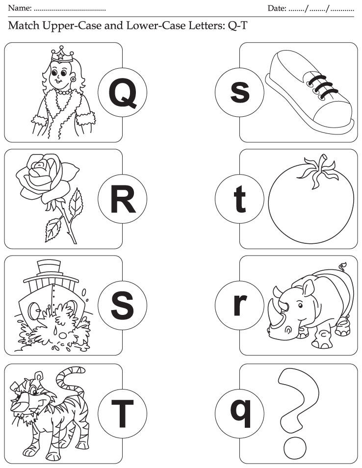 Letters Worksheets » Writing Uppercase And Lowercase