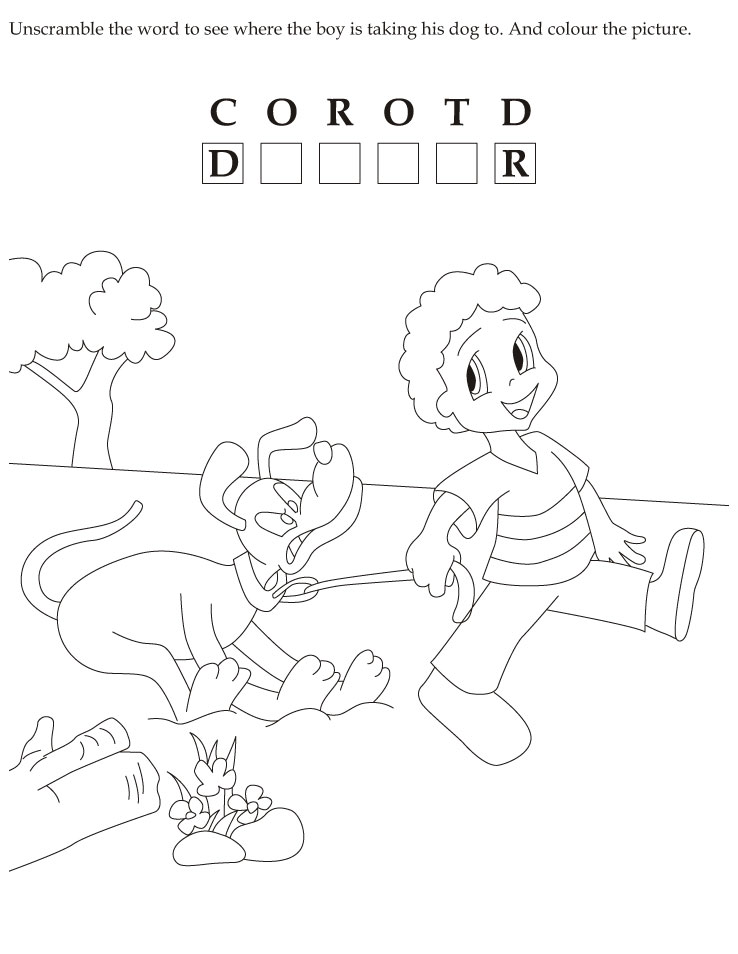 Download english activity worksheet Unscramble the word to