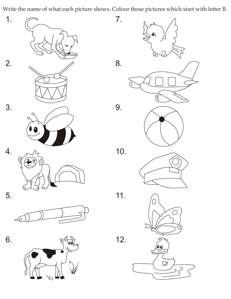 Download english activity worksheet colour those pictures