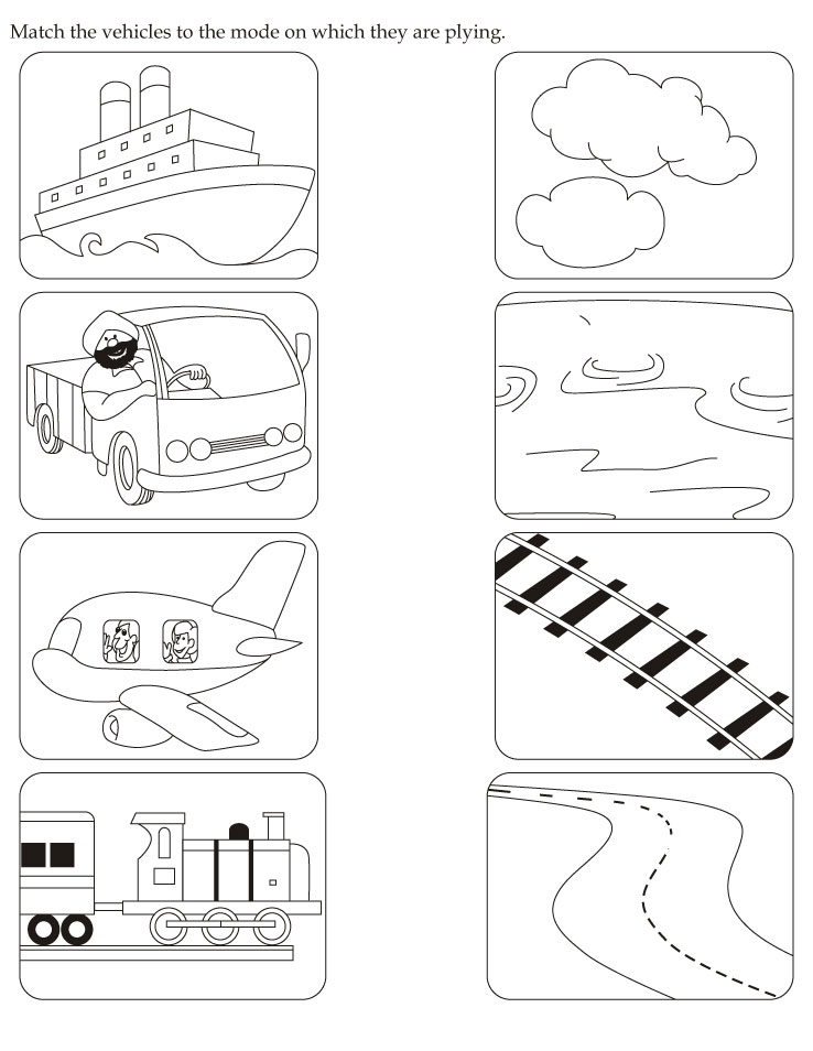 download english activity worksheet match the vehicles to