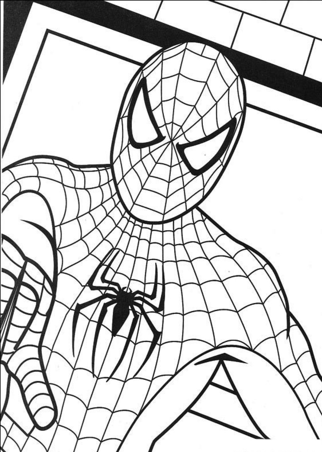 Boy Spiderman Coloring Page | Spider Man 11 Coloringcolor