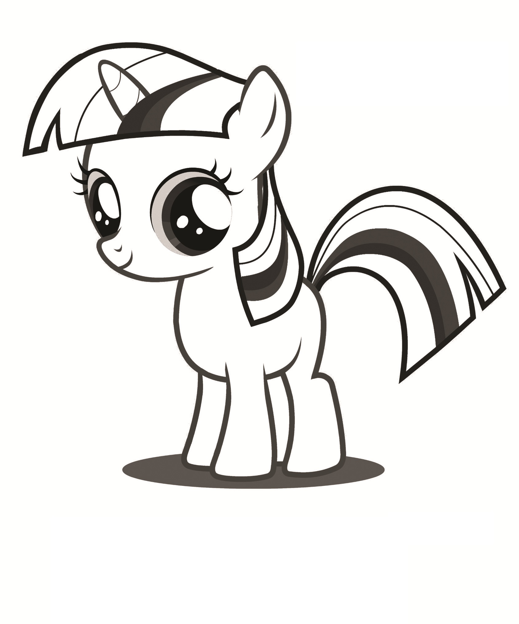 Printable Pony Coloring Pages : printable, coloring, pages, Printable, Little, Coloring, Pages