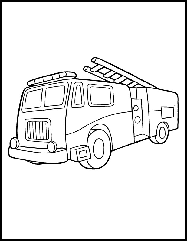 Fire Engine Coloring Pages : engine, coloring, pages, Printable, Truck, Coloring, Pages