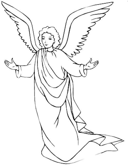 Angel Coloring Pages For Preschool : angel, coloring, pages, preschool, Printable, Angel, Coloring, Pages