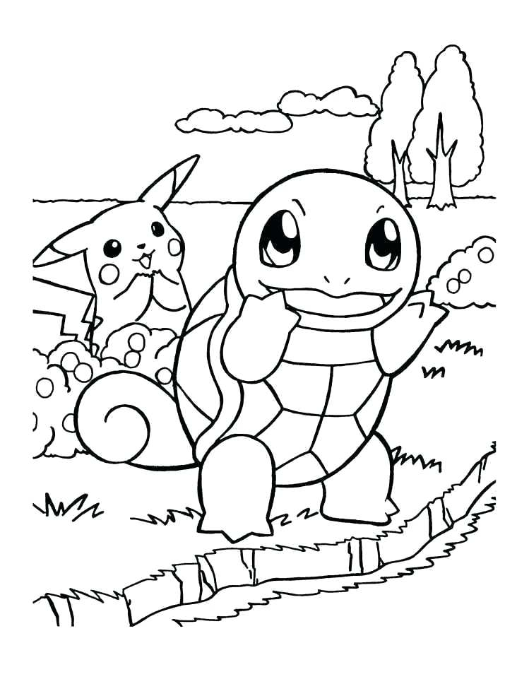 Squirtle Pokemon Coloring Pages : squirtle, pokemon, coloring, pages, Pokemon, Coloring, Pages., Favorite, Adventure!