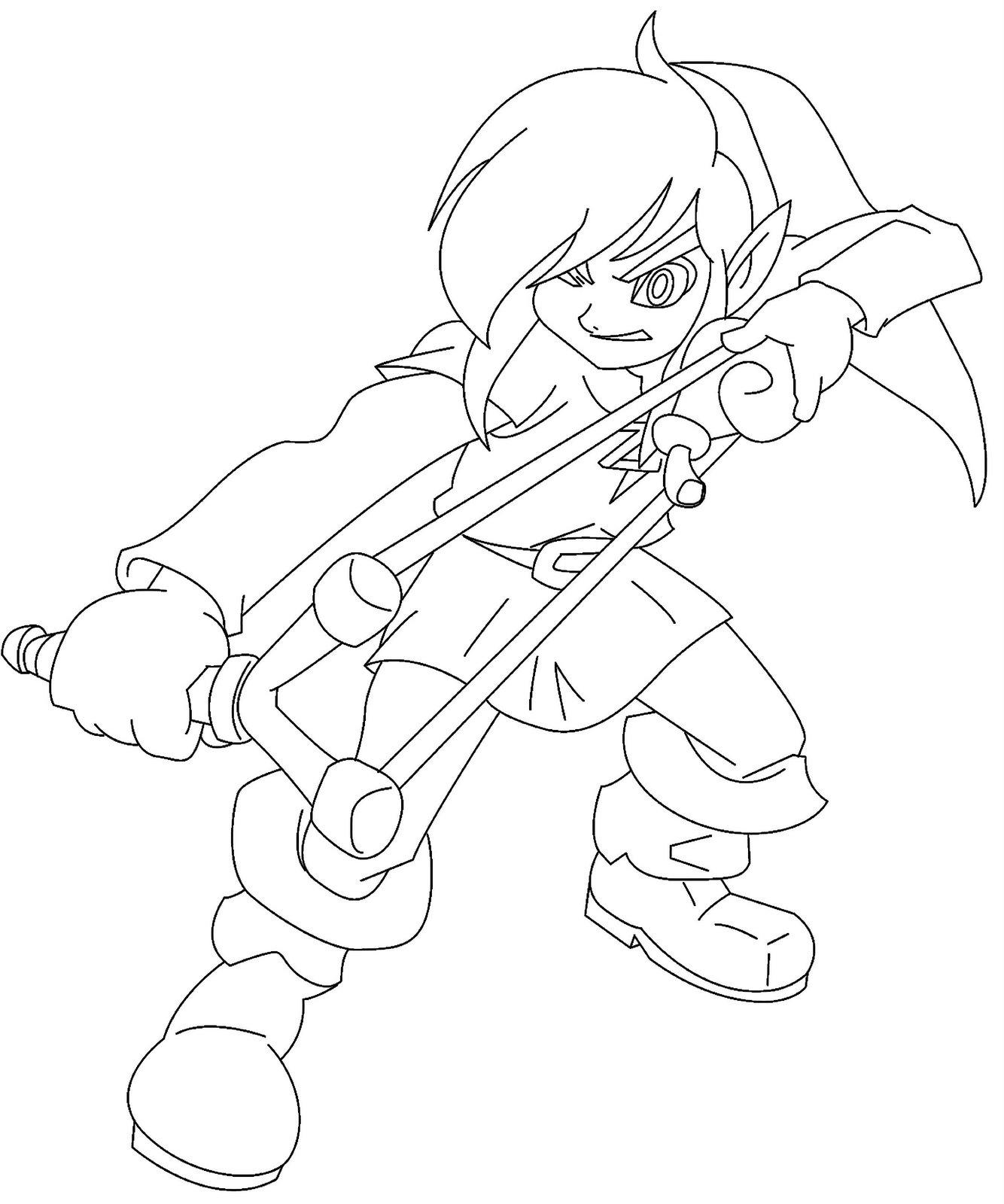 Zelda Twilight Princess Coloring Page