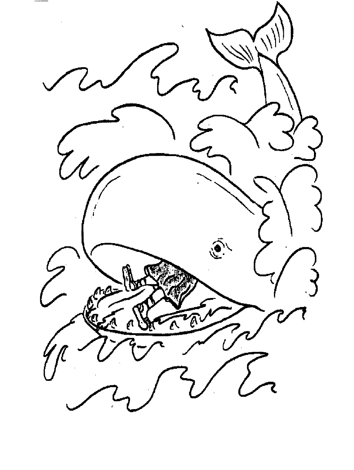 Jonah Coloring Pages : jonah, coloring, pages, Printable, Jonah, Whale, Coloring, Pages