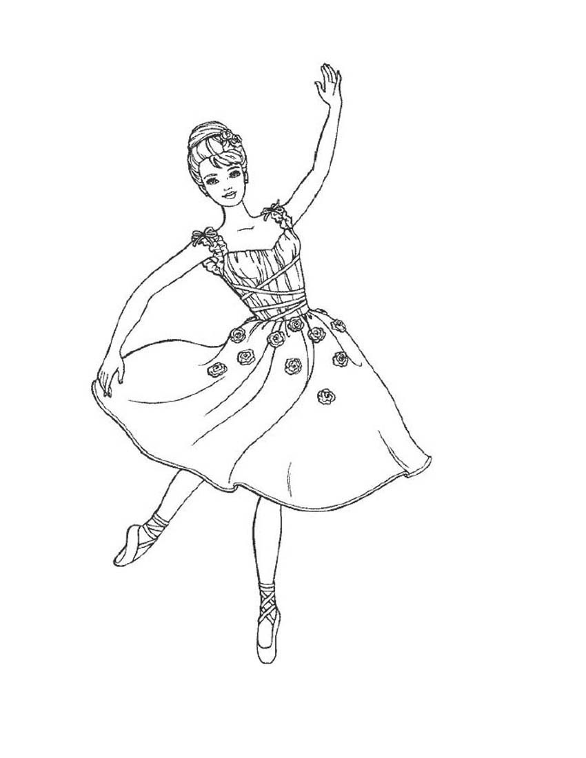 Ballerina Coloring Sheet : ballerina, coloring, sheet, Printable, Ballet, Coloring, Pages