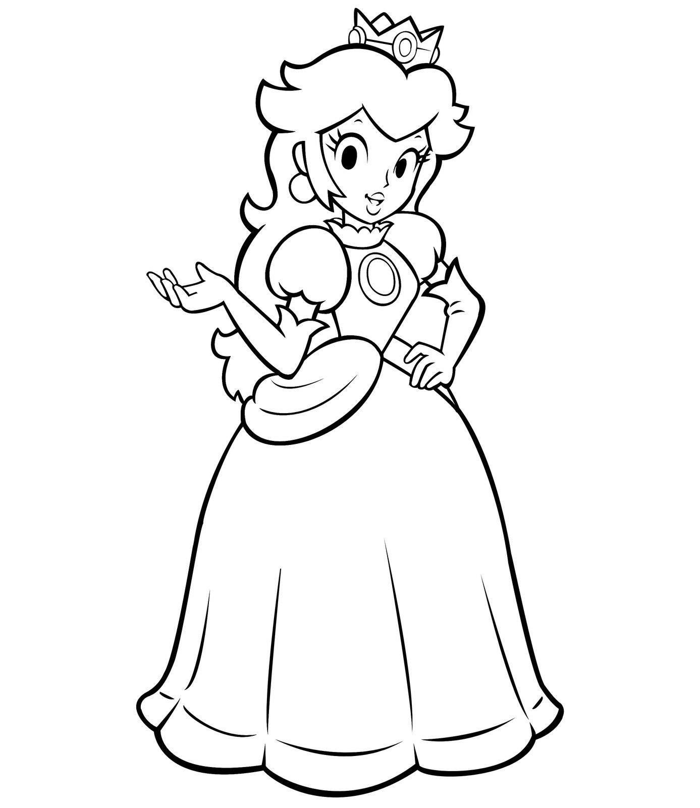 Mario Images Princess Rosalina Coloring Page Peach