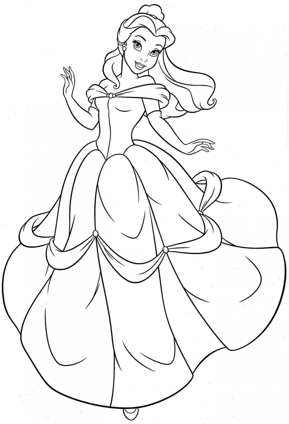 Belle Coloring Pages : belle, coloring, pages, Printable, Belle, Coloring, Pages