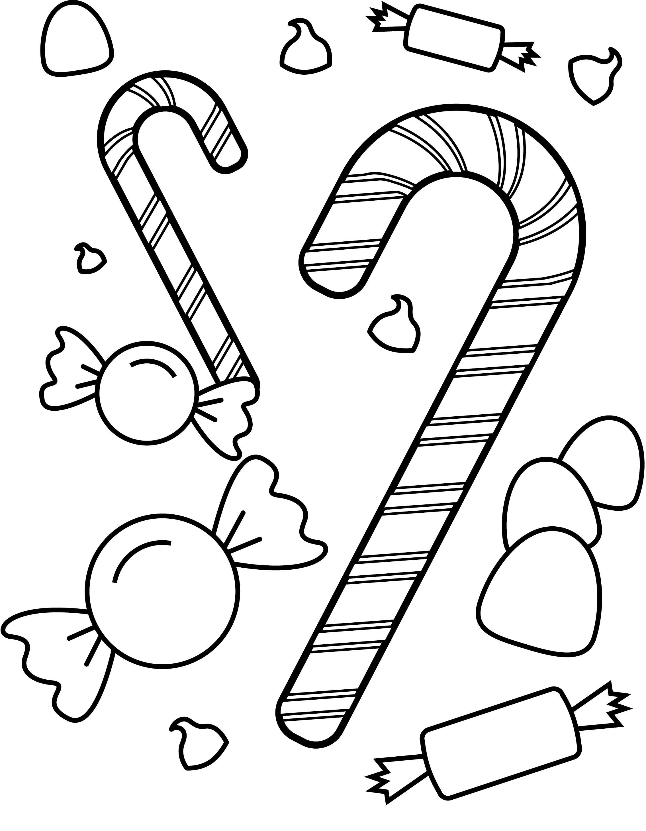Christmas Candy Coloring Page Printable Free Printable Candy