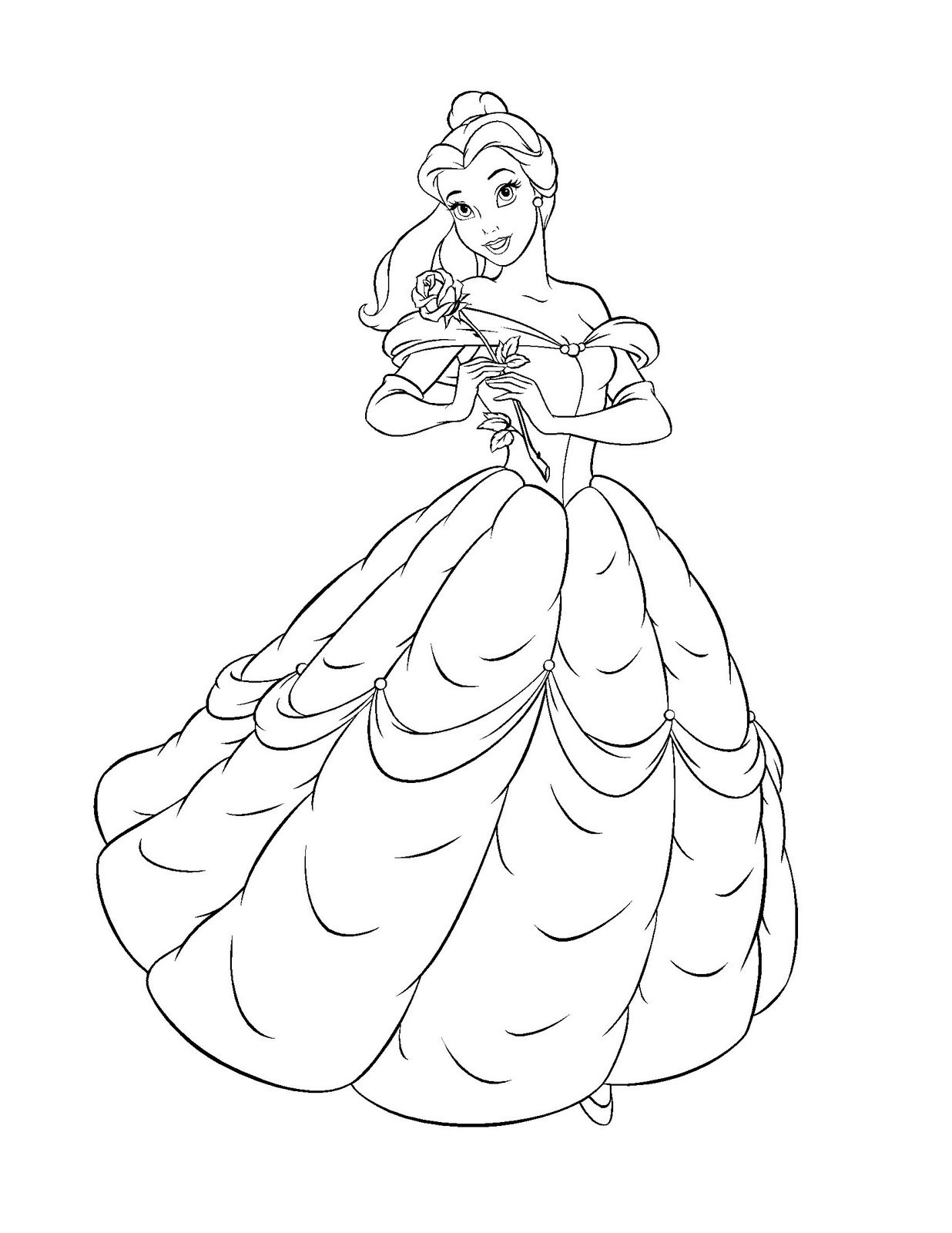 Belle Coloring Pages - coloring.rocks!