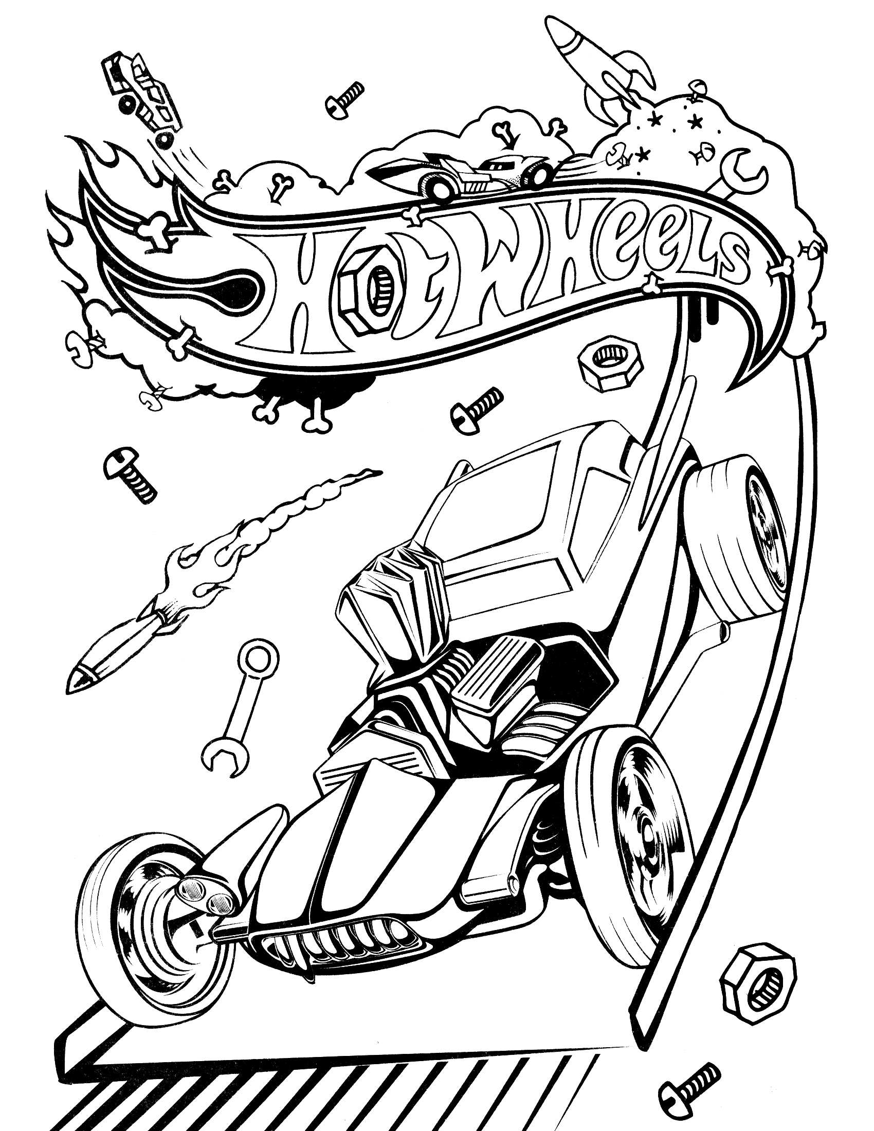 Printable Hot Wheels Monster Truck Coloring Pages