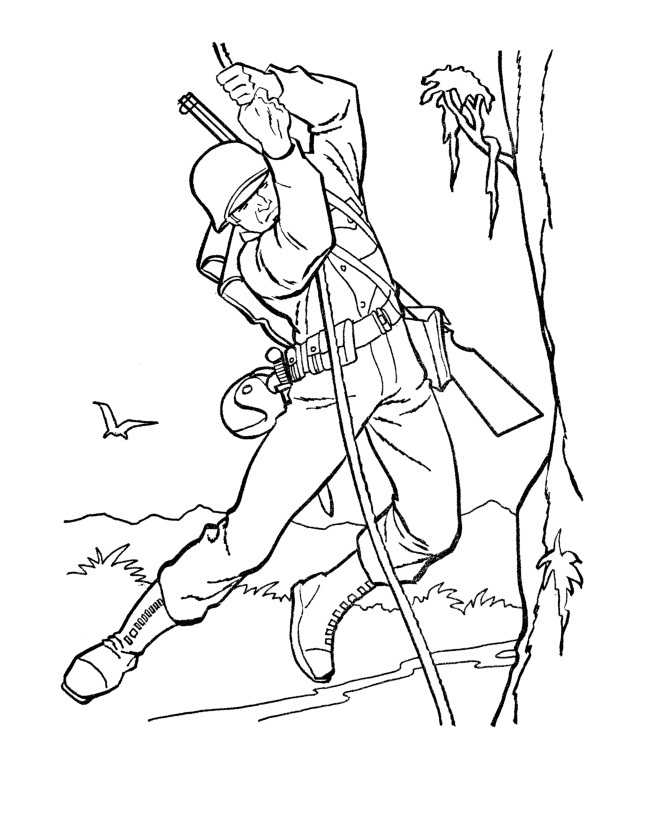 Army Guy Coloring Pages : coloring, pages, Printable, Coloring, Pages