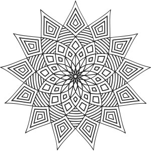 geometric coloring pages printable patterns designs shapes pattern adult colouring simple mandala cool adults abstract colour star geometry detailed doodle