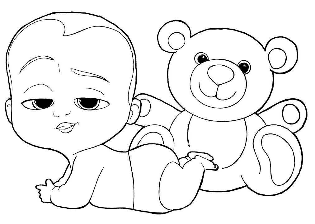 Free Printable Printable Coloring Boss Baby Coloring Pages Novocom Top