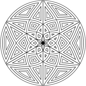geometric coloring pages designs printable adults patterns simple circle pattern shape lines circles geometry drawing islamic