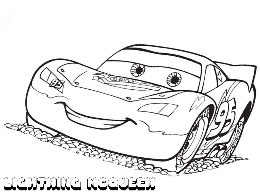 Lightning Mcqueen Coloring Page Black And White Tow Mater From