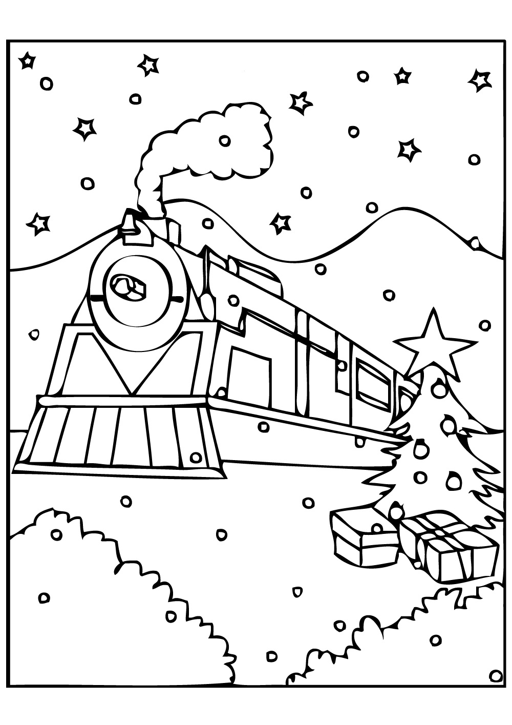 Christmas Train Coloring Pages : christmas, train, coloring, pages, Polar, Express, Coloring, Pages