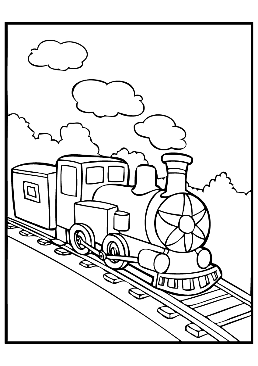 Polar Express Train Coloring Page : polar, express, train, coloring, Polar, Express, Coloring, Pages