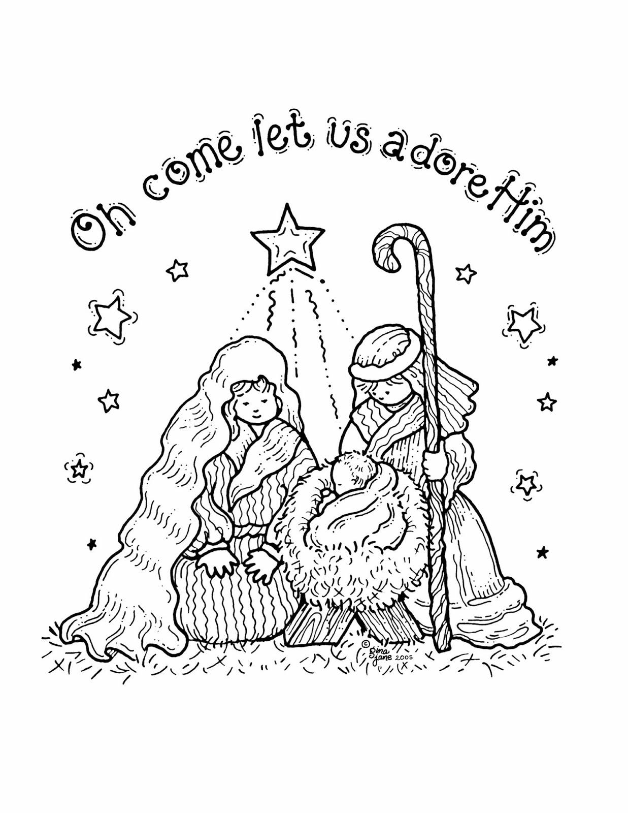 Coloring Page Jesus Christmas