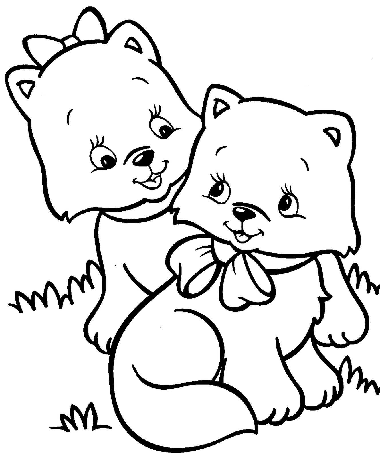 Free Printable Kitten Coloring Pages : printable, kitten, coloring, pages, Kitten, Coloring, Pages