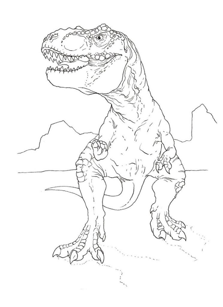 T Rex Coloring Page : coloring, Coloring, Pages