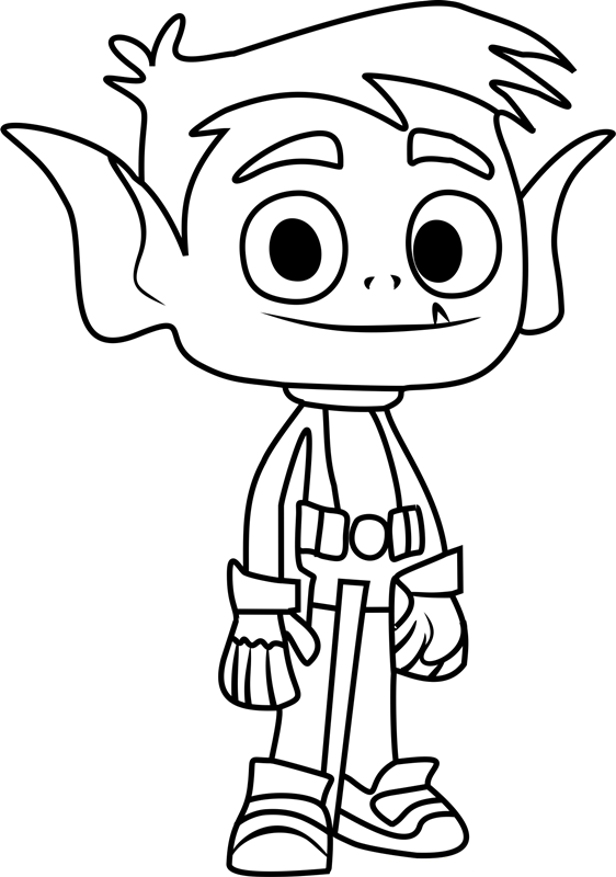 Coloring Pages Teen Titans Go I Coloring Videos for Kids