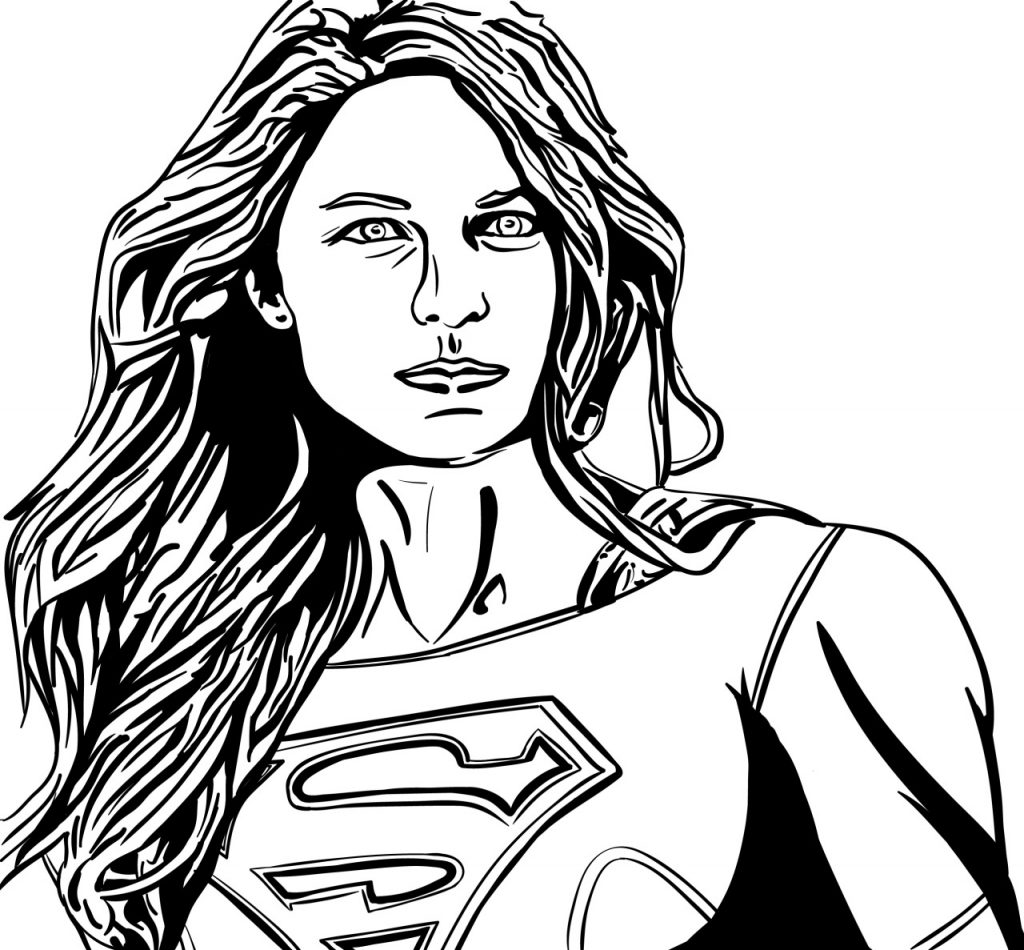 Supergirl Adult Coloring Book Pages | Superhero Coloring Pages ...