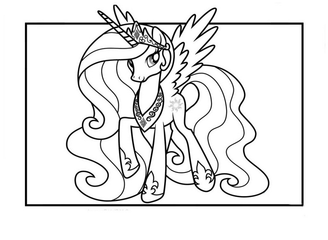 Princess Celestia Coloring Pages Best For