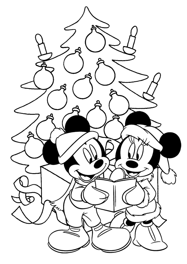 Mickey Mouse Christmas Coloring Pages : mickey, mouse, christmas, coloring, pages, Mickey, Mouse, Christmas, Coloring, Pages