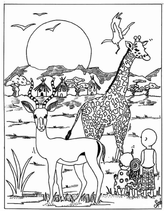 Safari Animal Coloring Pages : safari, animal, coloring, pages, Animal, Coloring, Pages