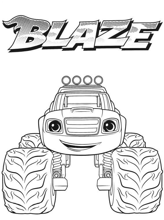 Blaze Coloring Page : blaze, coloring, Blaze, Monster, Machines, Coloring, Pages