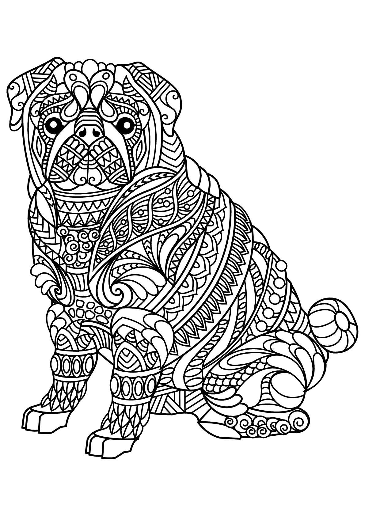 Bulldog Colouring Pages : bulldog, colouring, pages, Bulldog, Coloring, Pages