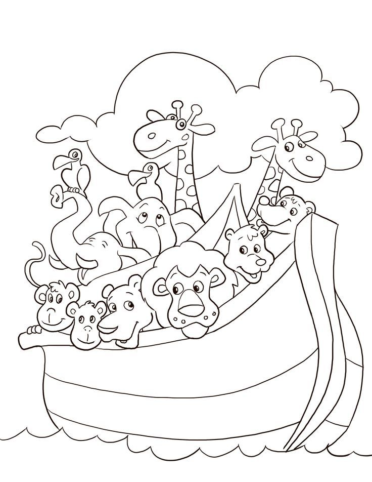 Noah's Ark Coloring Pages : noah's, coloring, pages, Noahs, Coloring, Pages