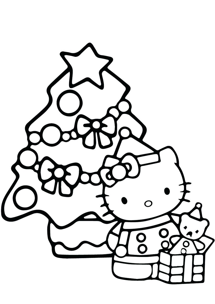 Hello Kitty Christmas Coloring Pages : hello, kitty, christmas, coloring, pages, Hello, Kitty, Christmas, Coloring, Pages