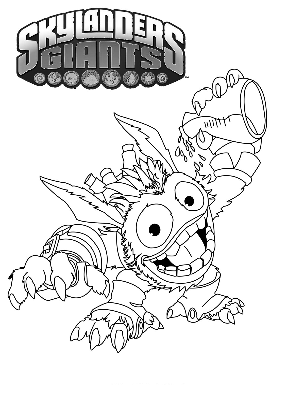 Skylander Coloring : skylander, coloring, Skylanders, Coloring, Pages