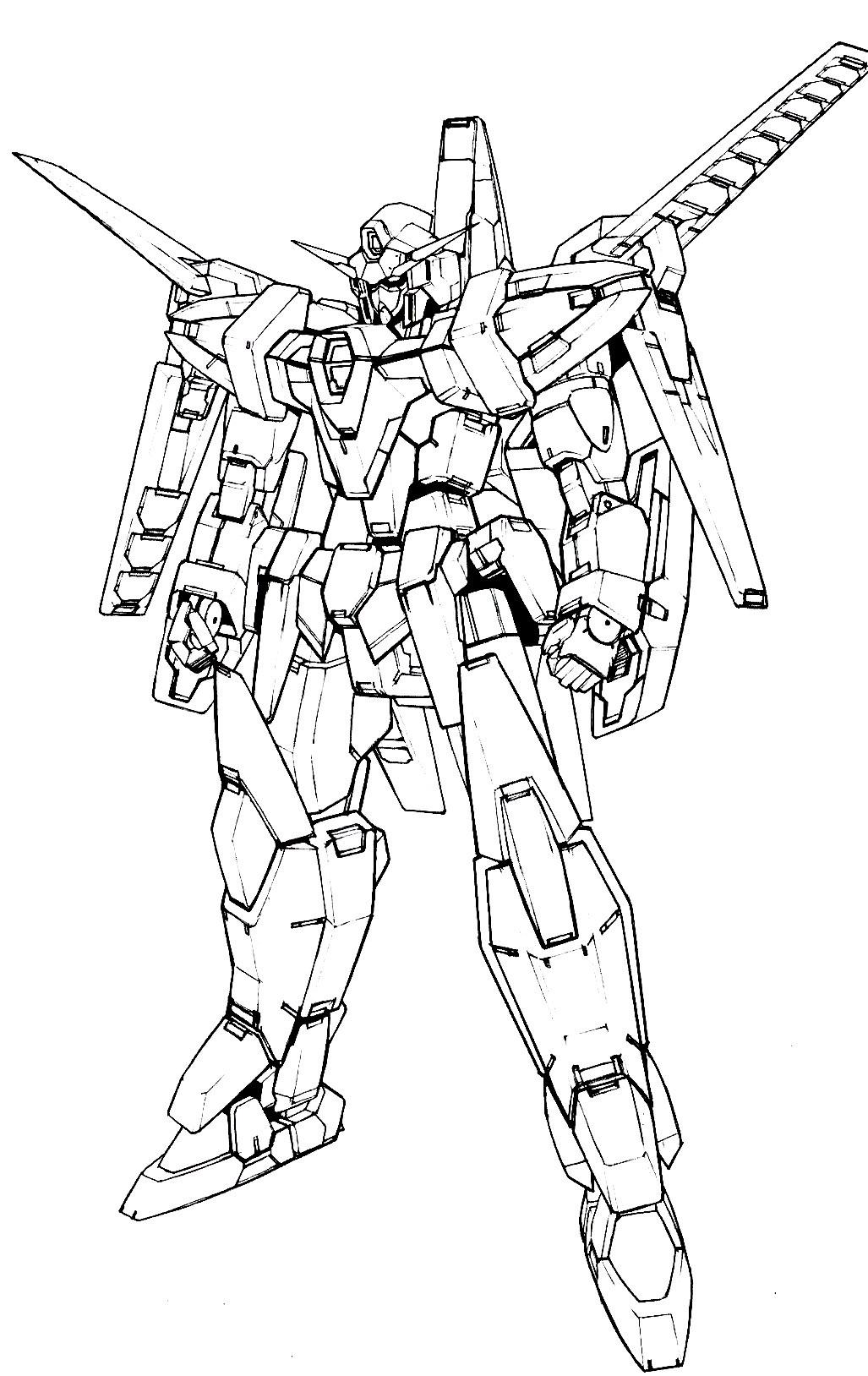 Gundam Coloring Pages : gundam, coloring, pages, Gundam, Coloring, Pages