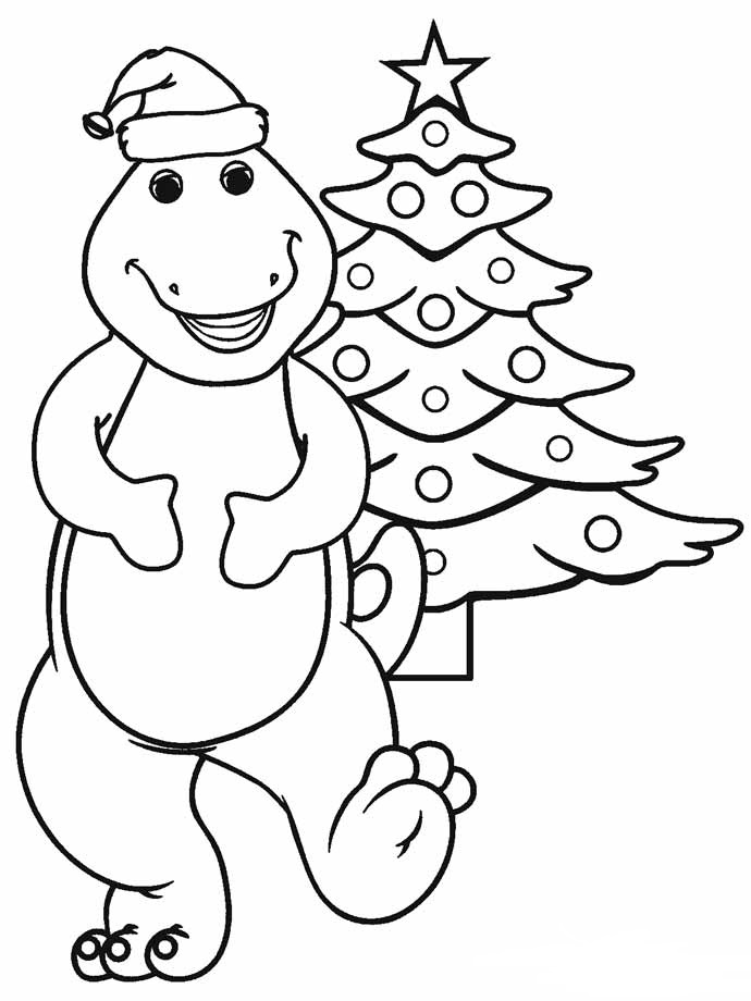Christmas Dinosaur Coloring Pages : christmas, dinosaur, coloring, pages, Dinosaur, Christmas, Coloring, Pages