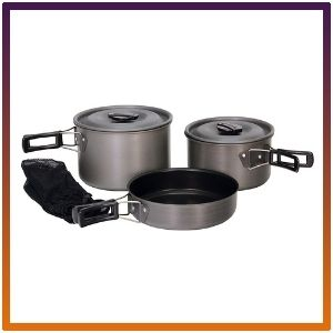 Texsport Black Ice Scouter 5-piece Camping Cookware