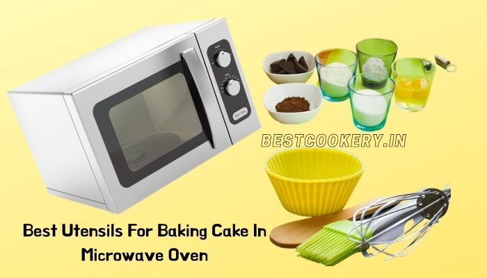 utensils for baking cake in microwave oven
