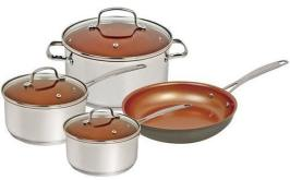 NuWave Silver 7 Piece Cookware Set