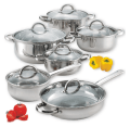 Cook N Home 12 Piece Stainless Steel Set