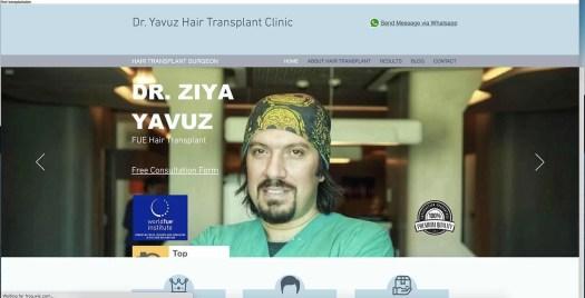Dr Ziya Yavuz Hair Transplant Istanbul Turkey