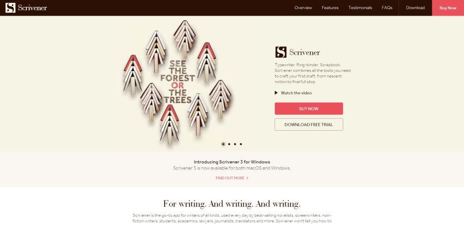 For writing. And writing. And writing.