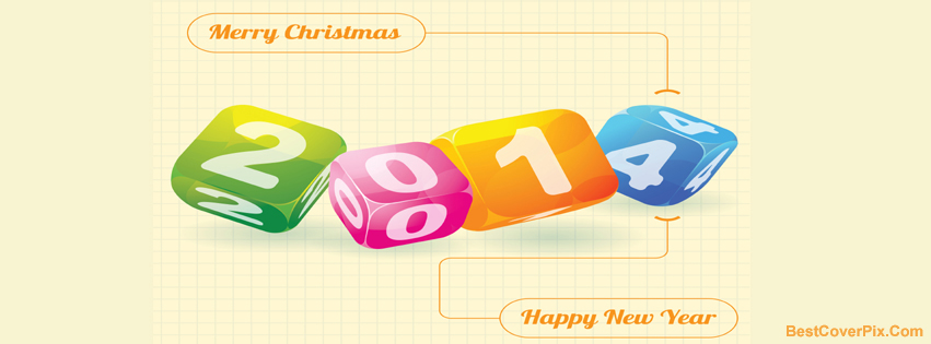 Merry Christmas and 2014 new year Facebook cover